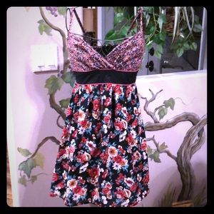 Xhilaration Floral spaghetti strap dress Size S